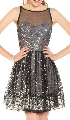 Sequin Sparkle Party Dress | #black #gold #sequin #sponsored #party #NYE
