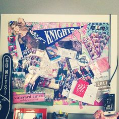 Dream board.  Get a high school sticker for the new school, college stickers and such...