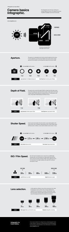I designed this super simple infographic that explains the basic principles behind how a camera works. Hope you enjoy it.