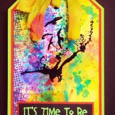 Visible Image stamps - Time To Be Happy - Pauline Butcher