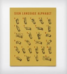 Sign Language Letterpress Print