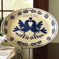 Love this! Possibly go to a paint-your-own-pottery place and do this! :)