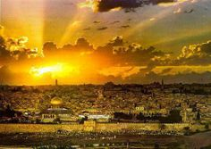 ❥ Shekinah Sunrise over the Eastern Gate in Jerusalem, where Christ the Messiah will soon return.