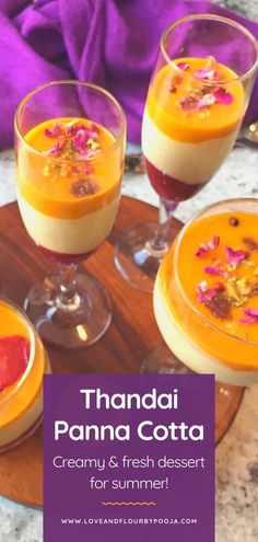 Need a quick Indian dessert for this summer? Try this Thandai Panna Cotta! It is Creamy, fresh and summery with strawberry and mangoes to create a visually attractive and tasty dessert! This will be a perfect dessert for your summer parties, family get together & other holidays like Holi etc. Try this easy recipe at your home, read my blog for step-by-step instructions. Summer Desserts, No Bake Desserts, Delicious Desserts, Dessert Recipes, Eggless Baking, Indian Desserts, Tea Cakes, Summer Parties, Desert Recipes