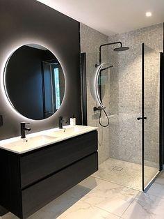 Baderomsgalleri - VikingBad AS Diy Bathroom, Bathroom Grey, Bathroom Photos, Bathroom Design Small, Bathroom Interior Design, Modern Bathroom, Bad Inspiration, Bathroom Inspiration, Vibeke Design