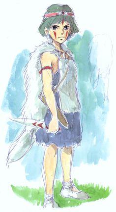 Hayao Miyazaki, Princess Mononoke, San character design