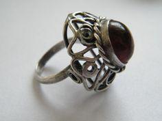 ORNO Tribal Fusion, Silver Rings, Polish, Bright, Jewellery, Vintage, Stone Rings, Fimo, Vitreous Enamel