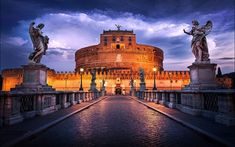 Castle Sant'angelo in Rome. This castle was commissioned by an emperor and was used by popes. Used to bet the tallest building in Rome. Rome Travel, Italy Travel, Cool Places To Visit, Places To Travel, Voyage Rome, Italy Vacation, Cruise Vacation, Travel Photos, Destinations