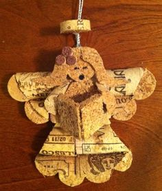 wine cork angel