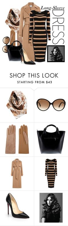 """""""Long-Sleeve Dress"""" by kioriknight ❤ liked on Polyvore featuring Vince Camuto, Tod's, Causse, Massimo Castelli, Jason Wu, Oasis, Christian Louboutin and BaByliss Pro"""