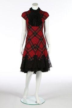 An Alexander McQueen tartan wool dress,  Widows of Culloden  collection,  Autumn-Winter, 2006-7 af8a8939101
