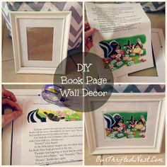 DIY: Vintage Bambi Book Pages As Nursery Wall Decor