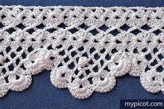 Alexandria Lace No. 73 Crochet Edging Tutorial - (mypicot)