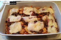 Csirkemell sonkával, gombával, sajttal Food And Drink, Beef, Chicken, Meat, Ox, Ground Beef, Steak, Kai