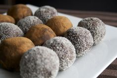 Cocoa Cookie Dough Balls from the cookbook Let Them Eat Vegan! So that picture just shows one serving, right?