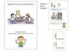 Autismus Arbeitsmaterial: Spielverhalten: spielen mit den anderen Kindern