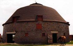 Round brick barn in Iowa