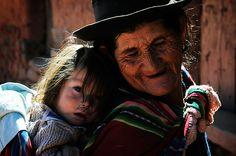 grandmother and -daughter - Bolivia