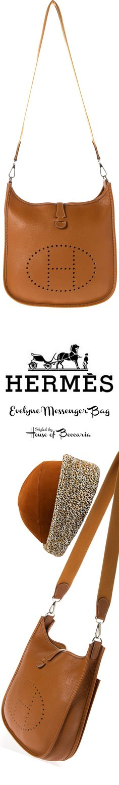 "~Hermes ""Evelyne Messenger"" Bag  - Hermes Suede Cap | House of Beccaria"