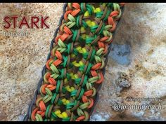 Rainbow Loom - STARK Bracelet. Designed by @loomingroach. Tutorial and looming by Jays Alvarez. Click photo for YouTube tutorial. 10/21/14.