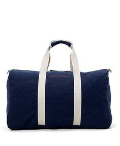 Brooks Brothers Canvas Duffel Bag...