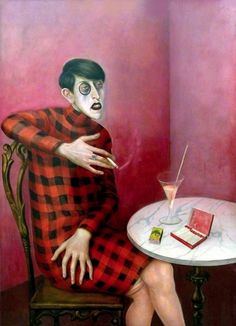 "Otto Dix, ""Portrait of the Journalist Sylvia von Harden,"" 1926.  https://www.facebook.com/pages/The-Roaring-20s-30s/217708824933132"