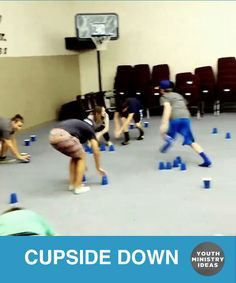 """Field day idea- cupsanddowns is a game where one team tries to turn all the cups upside down and the other team tries to turn them right side up.Classic quick game or team building """"back to back"""" challenge. Video by Classic quick game or team building"""