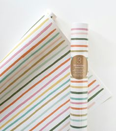 Happy Stripe Wrapping Sheets | Rifle Paper Co.