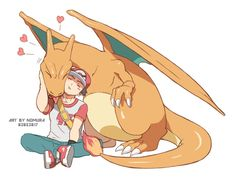 Red and Charizard Charizard Pokemon, Pikachu, Pokemon Charizard, Pokemon Red, Pokemon Ships, Pokemon Comics, Pokemon Funny, Pokemon Fan Art, Pokemon Tattoo