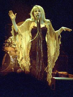 Stevie in her Gold Dust Woman shawl, live, c. 2006.