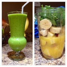 Immunity boost: 1 red apple (with skin), 1 banana, spinach, orange juice & Ice. I added doTerra essential oils: 2 drops On Guard and 2 Drops lemon. #mistyblend