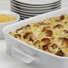 Cheesy Potatoes with Smoked Sausage Recipe