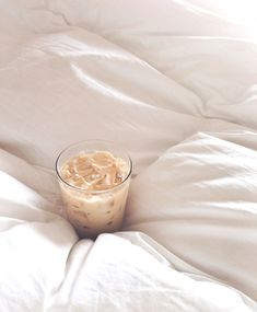 iced lattes should be consumed in a fluffy bed at least once a month.