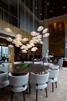 7 Amazing Contemporary Modern Dining Room Design Ideas, # Amazing … - All About Decoration Luxury Dining Room, Dining Room Design, Dining Room Chairs, Dining Rooms, Design Room, Dining Furniture, Table Lamps, Design Kitchen, Office Chairs