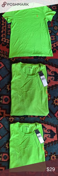 Polo Ralph Lauren NWT Men's Shirt Size Small New with tags, Size Small, Green with Orange Pony. 100% Authentic Polo Retail Price : $45  Please Check My other listings i can Combine Shipping and make bundle only for you so you Get second item free shipping. Code RQ Polo by Ralph Lauren Shirts Tees - Short Sleeve
