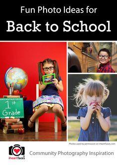 Fun Back to School Photo Ideas via iHeartFaces.com