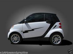 All Year Smart Car Lightning Bolt Side Graphics Set Stripe Smart for 2 or 4 | eBay