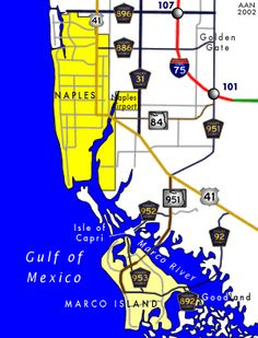 Marco Island and Naples Map