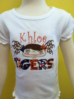 Auburn & Alabama Applique Shirt by dinkymonograms on Etsy