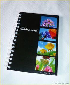 """Carnet de notes artisanal 10x14cm couverture avec des photos de fleurs""""Mon carnet"""" : Carnets, agendas par celinephotosartnature Artisanal, Photo Art, Notebook, Nature, Photos, Etsy, Day Planners, Connection, Notebooks"""