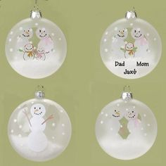 "$219.99 Club Pack of 48 Snowman Glass Christmas Ornaments to Personalize - From the Personalizable Keepsakes Collection Item #36770  Festive ornaments feature snowman families and  each ornament can be personalized using a marker or sharpie Ornaments come ready-to-hang on a a silver cord  Dimensions: 3.25""H x 3.75""W x 1.25""D Material(s): glass/man-made materials Pack of 48 ornaments - includes 1 ..."