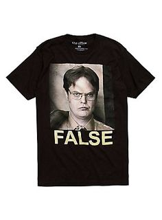 81640d80bf0df Real talk from Dwight    The Office Dwight False T-Shirt Dwight False