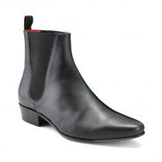 c11a10a950d Low Cavern Boot - Black Calf Leather Cuban Heel Boots
