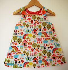 Happy Rainbow Pinafore Dress - Baby Toddler Girl 0-6yrs Made to Order on Etsy, £23.00