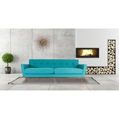 Kardiel Jackie Mid-century Modern Cashmere Tweed Classic Sofa - Free Shipping Today - Overstock - 19593019