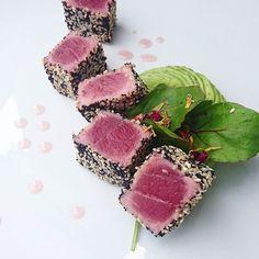 Thon mi cuit au sésame et pavot..... #menubistronomique #thon #atun #tuna #Food #Foodista #PornFood #Cuisine #Yummy #Cooking