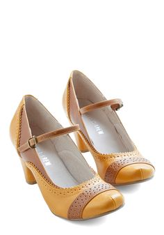 Refined Your Purpose Heel in Goldenrod
