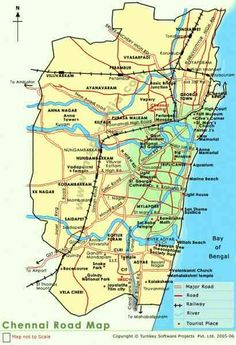 nice Chennai Map India