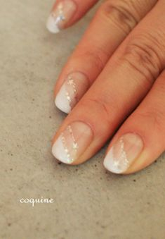French tip variation with the stars incorporated in, loving it!