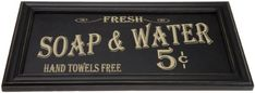 Custom designed wall art from Ohio Wholesale is the answer to all of your home decor and unique gift needs. Our Vintage Bath Advertising sign is sc...